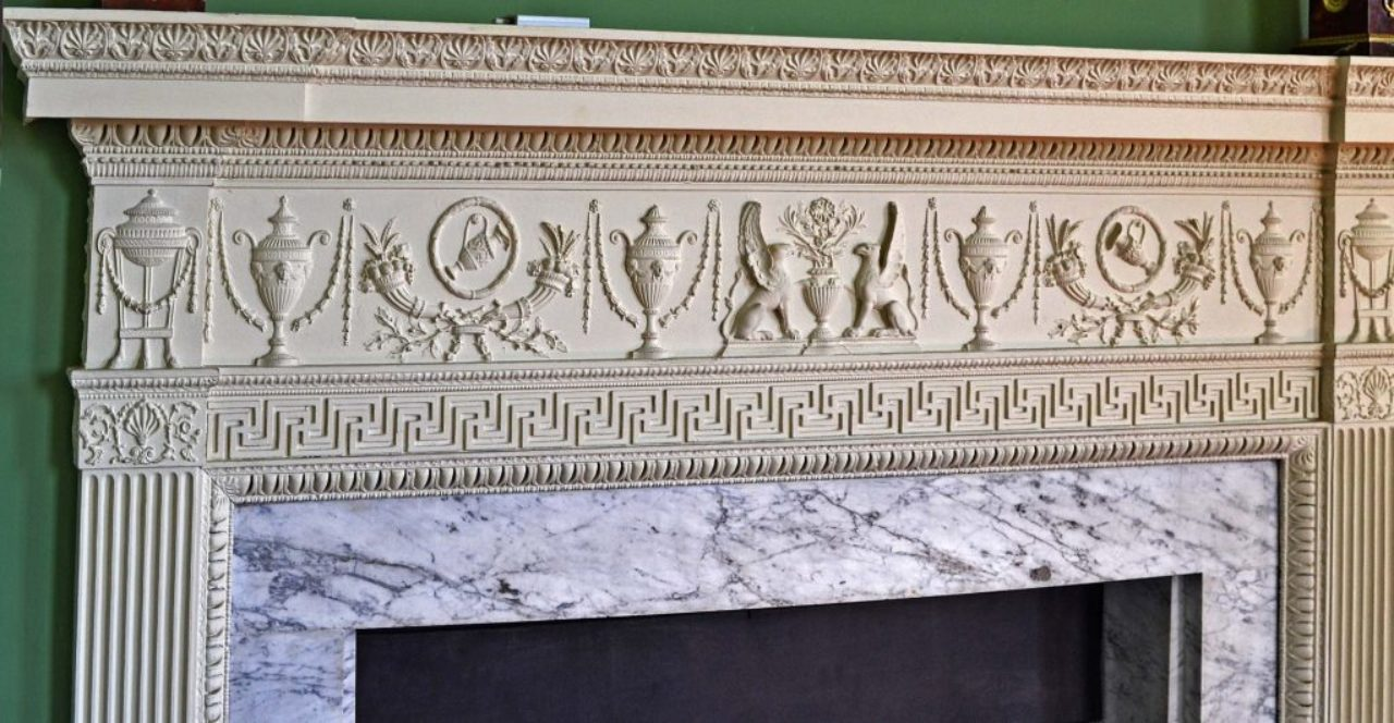 Figure 13: Mantel, Temple of the Winds; Mount Stewart, County Down, Northern Ireland (Loth).