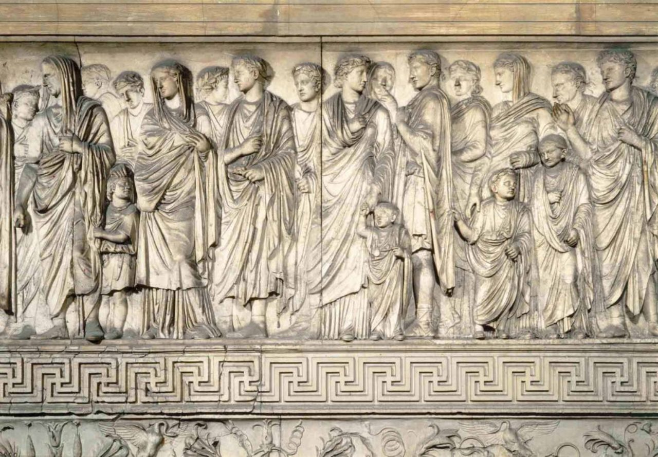 Figure 4: Detail of the Ara Pacis exterior frieze (ArS Artistic Adventure of Mankind).