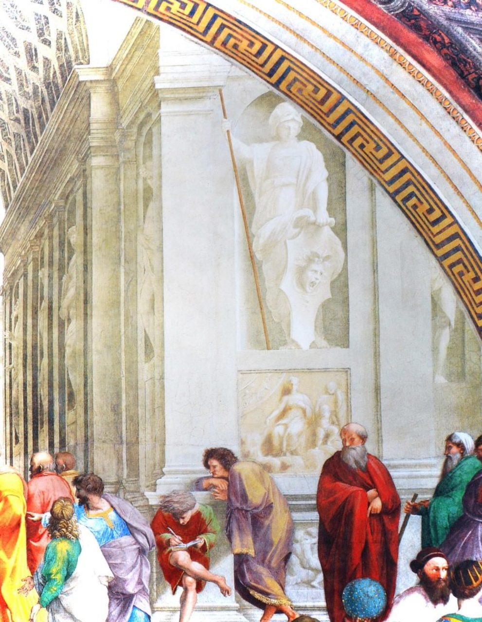 Figure 8: Detail of School of Athens fresco mural; Vatican Museums, Rome (WikiArt.org).