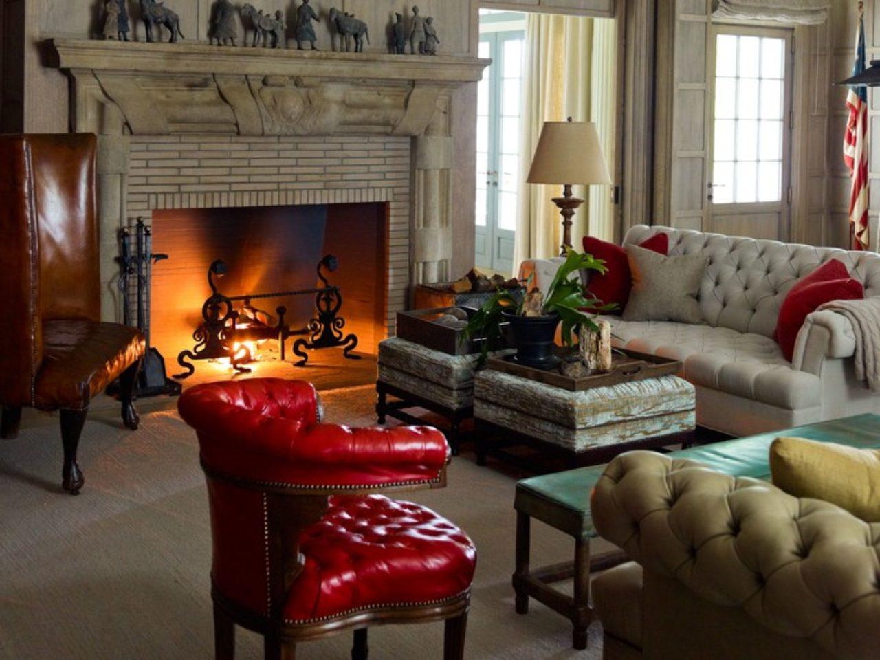 Interior by S.R. Gambrel Inc. (Image Source: Architectural Digest / Eric Piasecki)